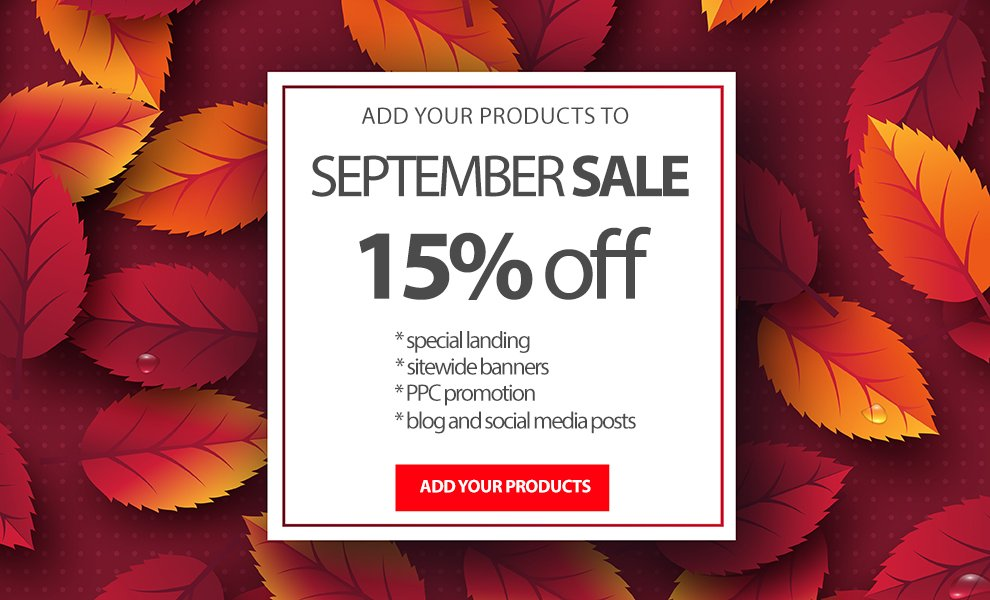 september sale for authors
